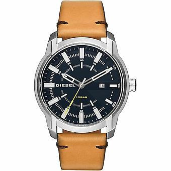 Diesel DZ1847 Armbar Leather Strap Blue Dial Men's Watch
