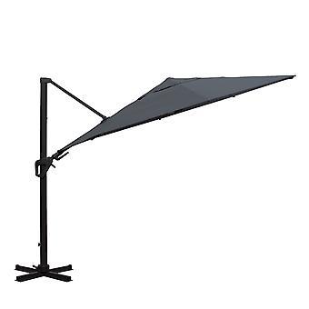 Charles Bentley 3.5M 8 Strut Premium Kwaliteit Cantilever Outdoor Veelzijdige Parasol Water Bestendig Canopy Grijs