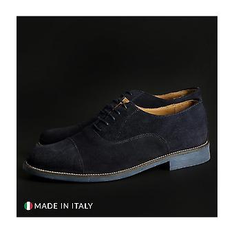 SB 3012 - shoes - lace-up shoes - 1003_CAMOSCIO_BLU - men - navy - EU 40