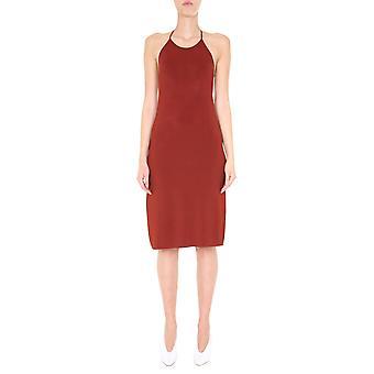 Bottega Veneta 616993vki608857 Women's Orange Viscose Dress