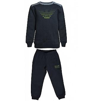 EA7 Boys EA7 Boy's Carbon Grey Tracksuit