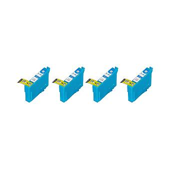 RudyTwos 4x Replacement for Epson Stag Ink Unit Cyan (Extra High Yield) Compatible with Stylus B42WD, BX525WD, BX535WD, BX625FWD, BX630FW, BX635FWD, BX925FWD, BX935FWD, SX525WD, SX535WD, SX620FW, Work
