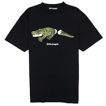 Palm Angels Croco T Shirt Noir/vert