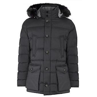 CC Collection Corneliani Elephant Grey Down Filled Parka Jacket