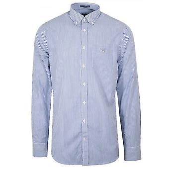 GANT College Blue Regular Fit Broadcloth Pankkiiri paita