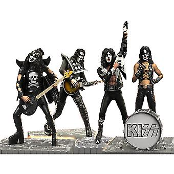 KISS Hotter than Hell Rock Iconz Statues Set of 4