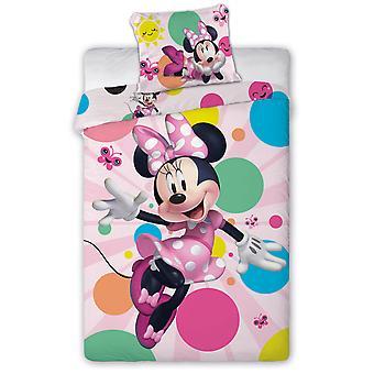 Minnie Mouse Dotty Single Duvet Cover Set - Taille européenne