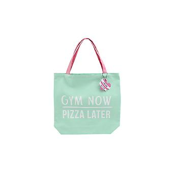 CGB Giftware Gym And Tonic Gym Now Pizza Later Tote Bag