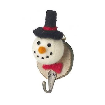 Festive Felt Snowman Plaque with Hook