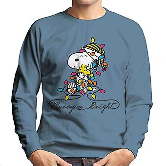 Peanuts Merry And Bright Snoopy Christmas Men-apos;s Sweatshirt