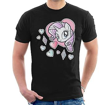 My Little Pony Rarity Heart Men's Camiseta