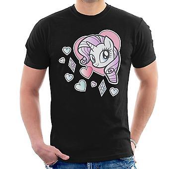 My Little Pony Rarity Heart Men's T-Shirt