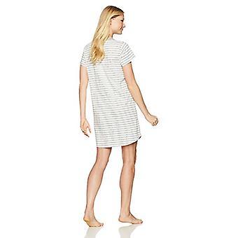 Merkki - Mae Naiset&s Yöpuvut Pocket Nightgown, Harmaa Raita, S