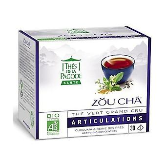 Zou Cha Bio Sencha Green Tea From China With Turmeric And Meadowsweet - Joints 30 infusion bags