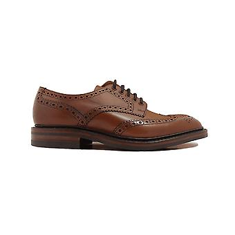 Loake Chester Mahogany Burnished Calf Leather Mens Derby Shoes