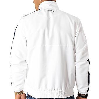Sergio Tacchine Mens Decha Casual High Collar Zip Up Track Top Jacket - Blanc