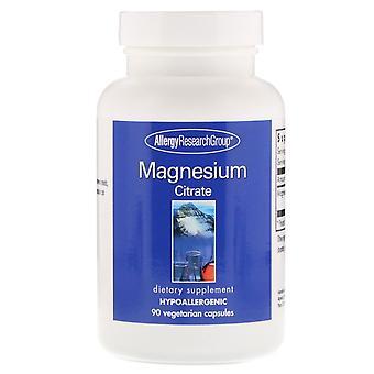 Allergie onderzoeksgroep, magnesium citraat, 90 vegetarische capsules