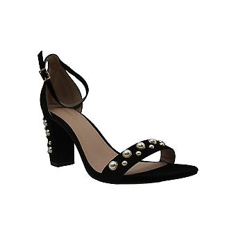 Madden Girl Womens Bitsyy Suede Open Toe Casual Ankle Strap Sandals