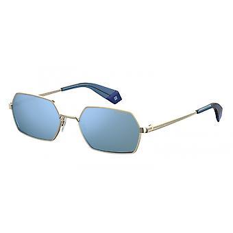 نظارات شمسية للجنسين 6068/S LKS/XN الذهب مع النظارات الزرقاء