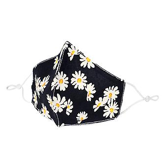 Daisy Print Polycotton Fabric Face Mask
