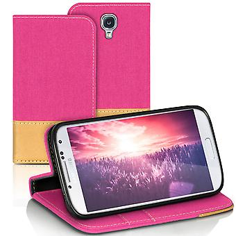 Mobilfordral Jeans for Samsung Galaxy S4 Phone TPU Shell Shockproof Card Holder