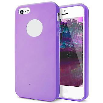 Shell pour Apple iPhone 5 5s SE Purple TPU Protection Case