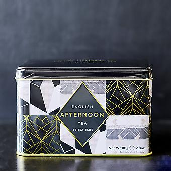 Art deco tea tin with 40 english afternoon teabags