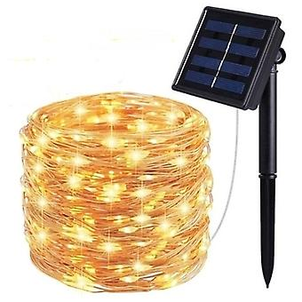 Outdoor Solar Powered String Lights With 8 Modes For Holiday Christmas Party Garden LED Waterproof Lamp Outdoor Decoration