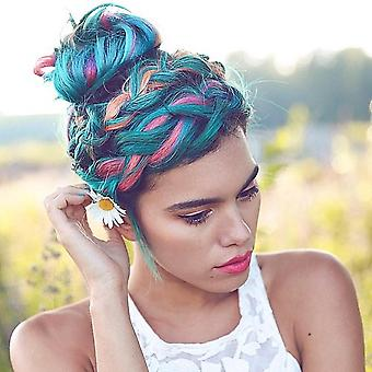 Väliaikainen hiusten värivaha - Diy One Time Molding Paste Dye Cream Miehille ja naisille