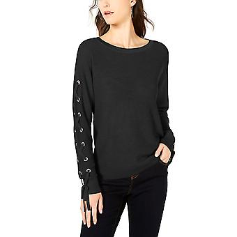 INC | Lace-Up Grommet Sleeve Pullover