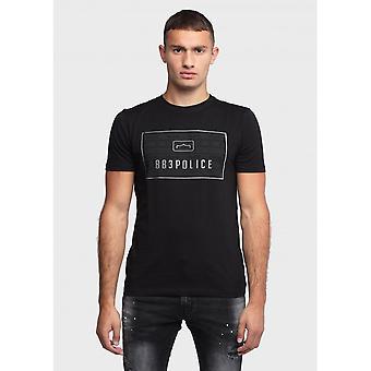 883 Politie Jing Slim Fit Zwart T-shirt