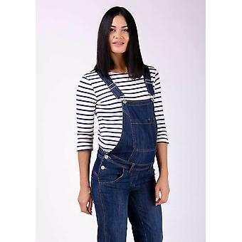 Ivy denim maternity dungarees - blue