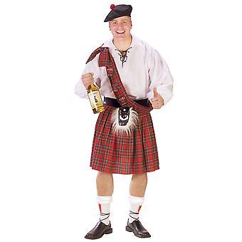 Škótsky Kiltsman britský Highlander tartan muži kostým kilt sukne