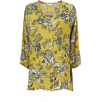 Masai Clothing Impi Yellow Floral Blouse