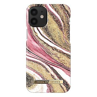 iDeal Of Sweden iPhone 12 Mini Shell - Cosmic Pink Swirl