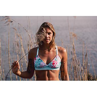 Triangle Bikini Top Eco | Summer Sea + Black Tie Dye | Reversible
