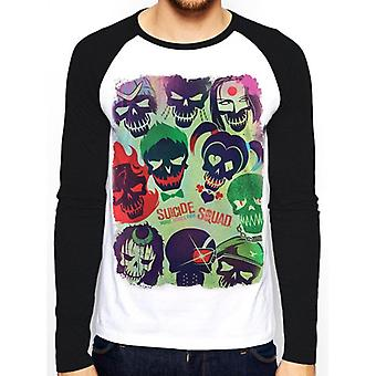 Suicide Squad Adults Unisex Adults Poster Baseball Shirt