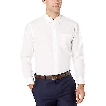 Essentials Men & apos;s العادية تناسب التجاعيد مقاومة التجاعيد قميص اللباس, Wh ...
