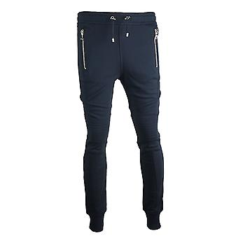 Balmain Biker Navy Sweat Pants