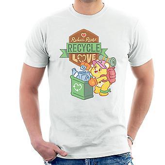 Hoitokarhut avaa magic vähentää uudelleenkäyttöä Kierrätä Rakkaus Miehet&Apos;t-paita