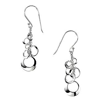 Element Sterling Silver, Ladies, E3637, Orecchini a goccia open disc cluster