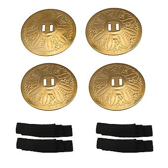 2 Pack 53.4mm Dia Brass Finger Cymbals Belly Dance Zills Hand Percussion