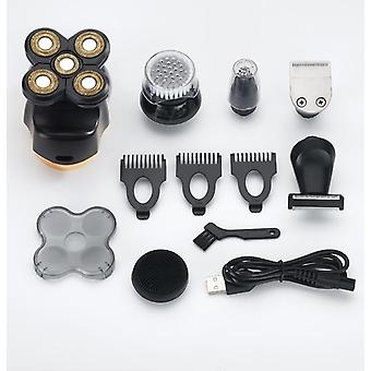 6 In 1 men's rechargeable bald head electric shaver