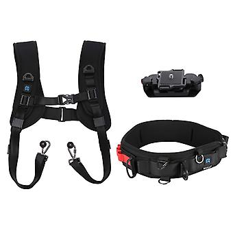 PULUZ 3 in 1 Multi-functional Bundle Waistband Strap + Double Shoulders Strap + Capture Camera Clip Kits with Hook for SLR / DSLR Cameras