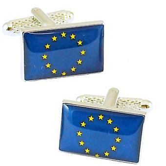 Ties Planeta Bandera de la Unión Europea Novelty Cufflinks
