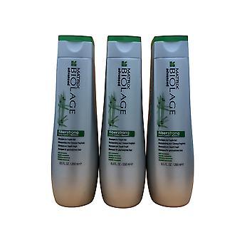 Matrix Biolage Fiberstrong Shampoo Fragile Shair 8,5 OZ Set von 3