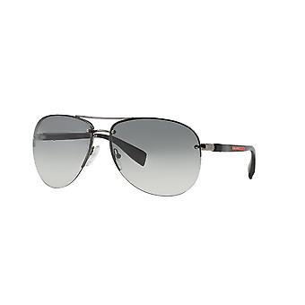 Prada Sport Linea Rossa SPS56M 5AV3/M1 Gunmetal/Grey Gradient Sunglasses