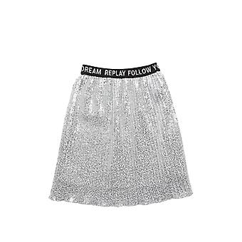 Replay Girls' All-Over Sequin Skirt Sequins