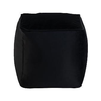 Black Cube Bean Bag Foot Rest Stool Pouffe Living Room Beanbag Ottoman Footstools