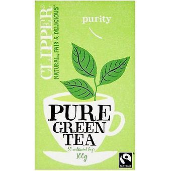 Clipper Fairtrade Pure Green Teabags 100g - 50's x6